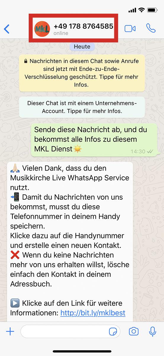 Schritt 1 zur Whatsapp Verifizierung