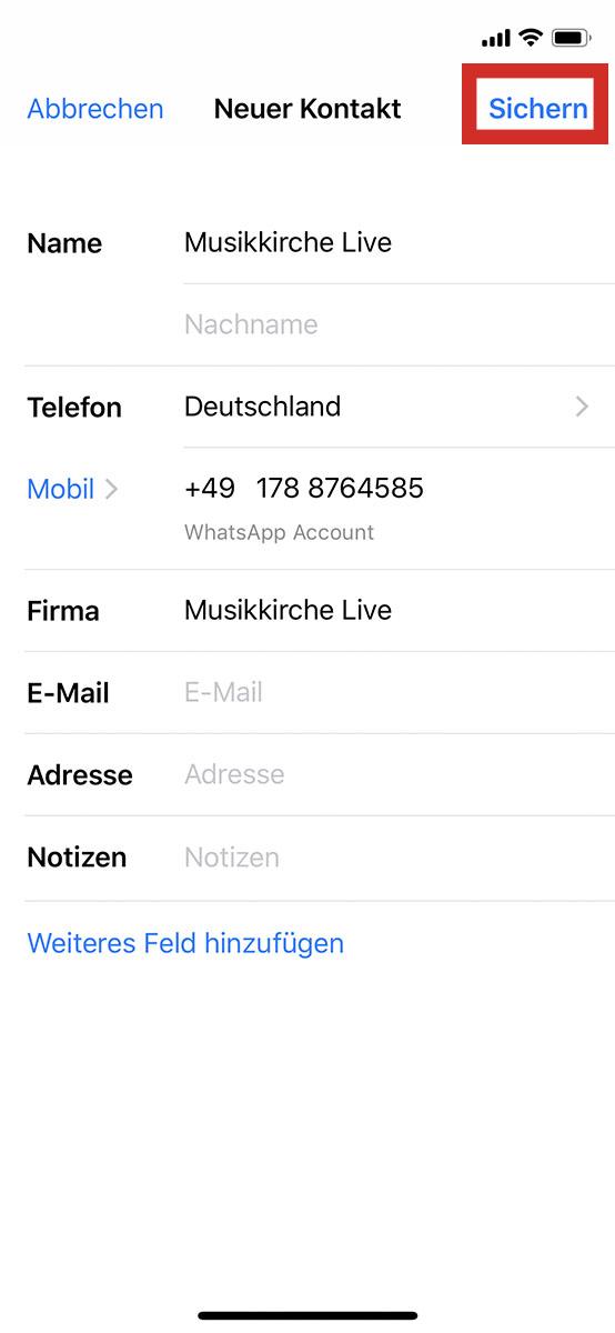 Schritt3 zur Whatsapp Verifizierung